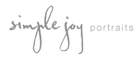 Simple joy portraits official main logogrey3