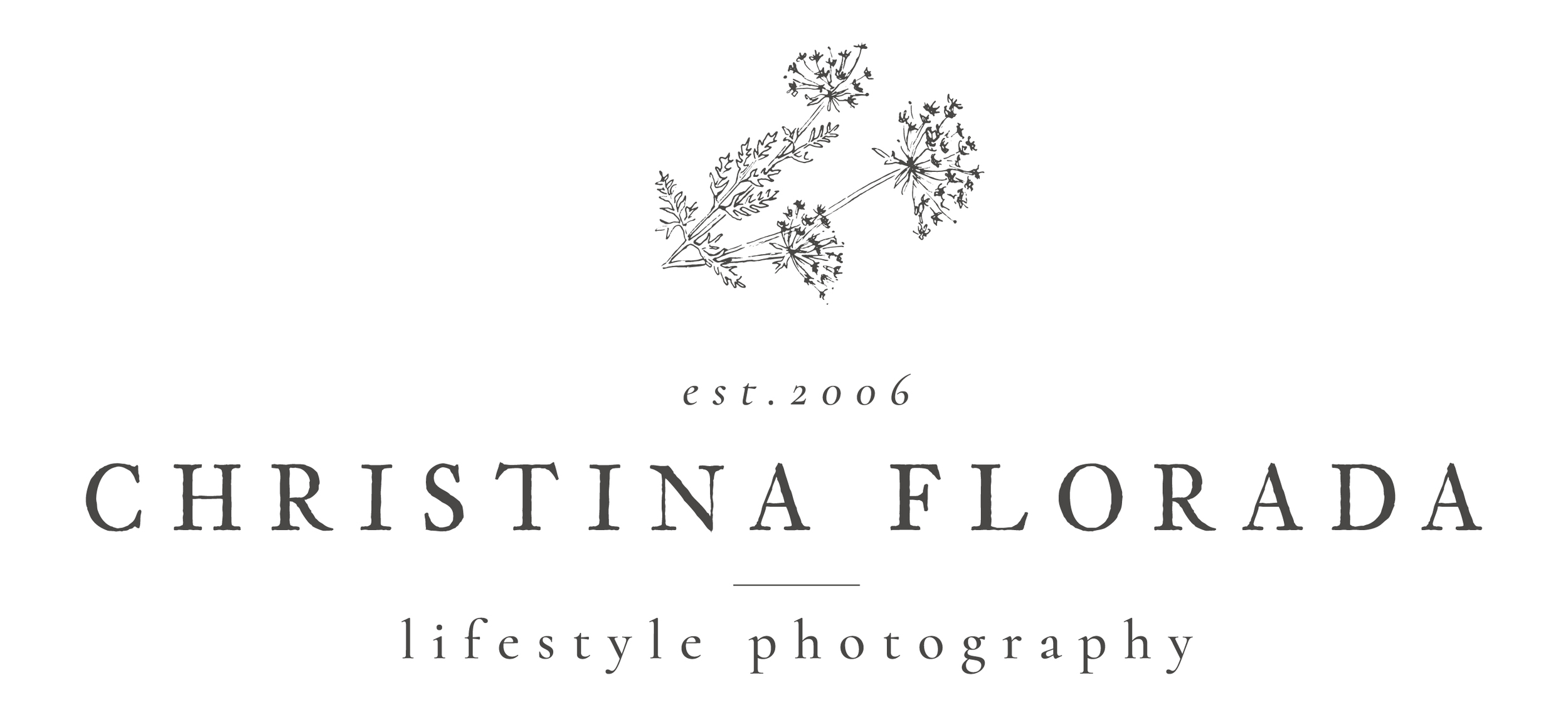 Christina florada main logo grey
